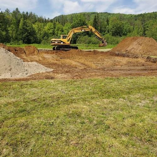 Digging a foundation, Dalton NH