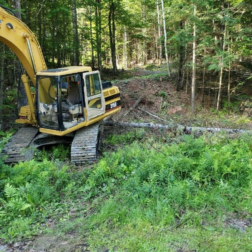 Clearing the trees, Littleton, NH