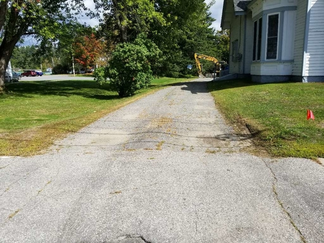 Before Driveway Improvements