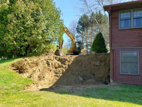 Removing old retaining wall